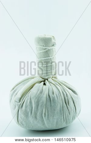 Herbal Compress Herball Ball on white background.