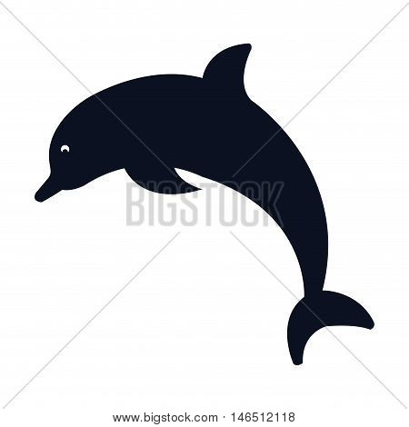 dolphin marine aquatic animal. aquarium symbol. vector illustration
