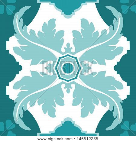 Seamless vector pattern in traditional Spanish style