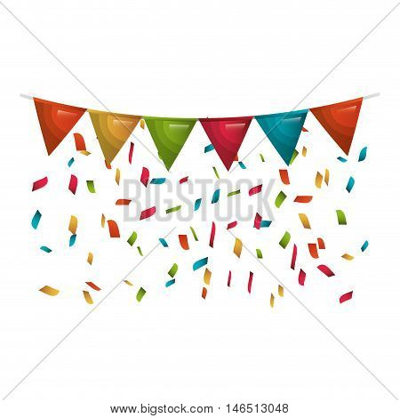 colorful pennants  party celebration decoration element. vector illustration