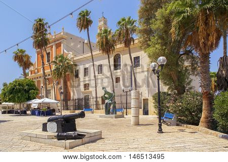 TEL AVIV, ISRAEL - August 24, 2016: picturesque corner in the Old City of Jaffa on august 24, 2016 Tel Aviv, Israel