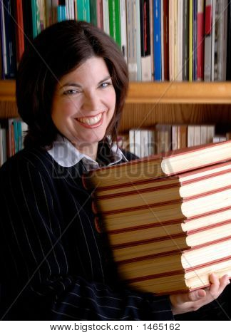 Young Woman And Books
