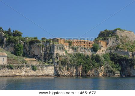 The old castle of Corfu on the island of Kerkira in Greece