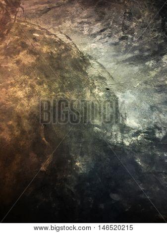raw cement floor texture background in dark tone
