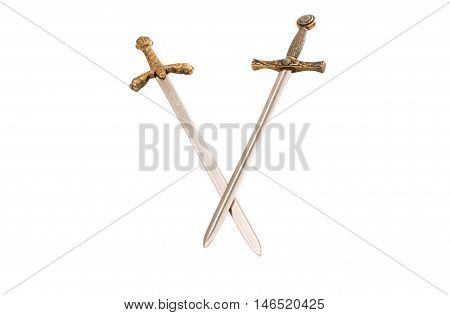Sword knight, sabre on a white background
