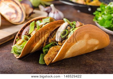 Homemade Chicken Tacos