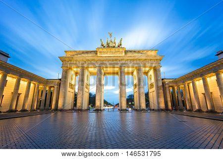 The Long Exposure View Of Brandenburger Tor In Berlin, Germany