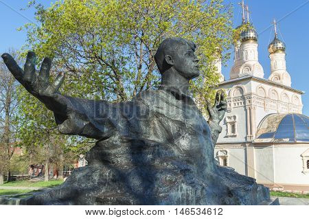 RYAZAN, RUSSIA - May 07.2013: Monument to Sergei Yesenin, a great Russian poet, is opened in Ryazan on October 2, 1975. Author of a monument is Kibalnikov, architect - Begunts.