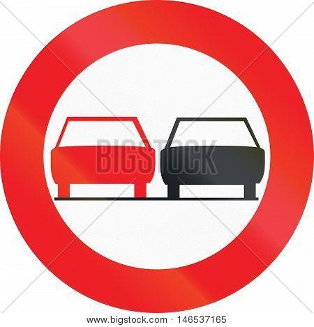 Belgian Regulatory Road Sign - No Overtaking
