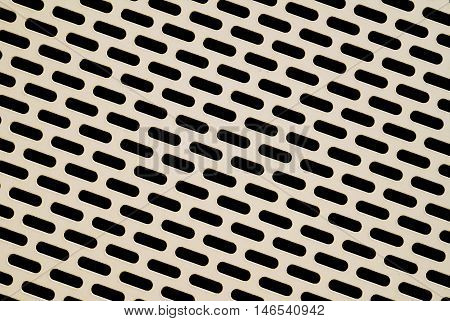 Perforated metal as a paneling for the facade of a parking garage