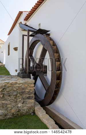 water mill portuguese water mill called azenha its used to process grain with the power of water