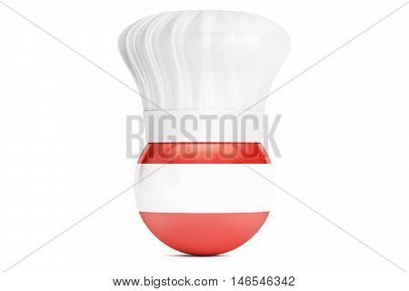Austrian cuisine concept 3D rendering isolated on white background