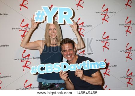 LOS ANGELES - SEP 8:  Lauralee Bell, Christian LeBlanc at the Young and The Resltless 11,000 Show Celebration at the CBS Television City on September 8, 2016 in Los Angeles, CA
