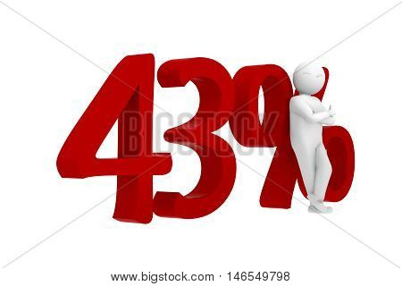 3D Human Leans Against A Red 43%