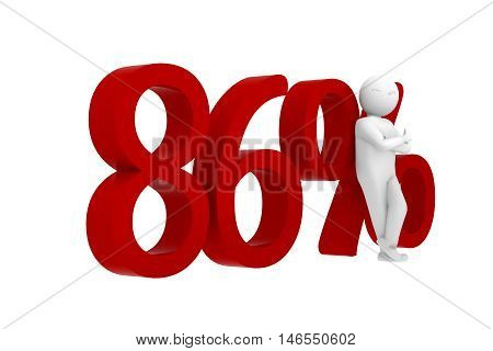 3D Human Leans Against A Red 86%