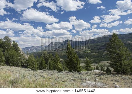 View from Beartooth Highway Wyoming/Montana United States