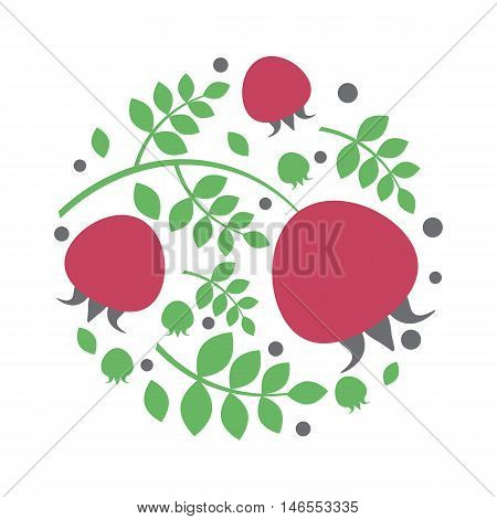a circle design red briar and leaves