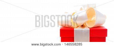 Red And White Gift Social Media Banner