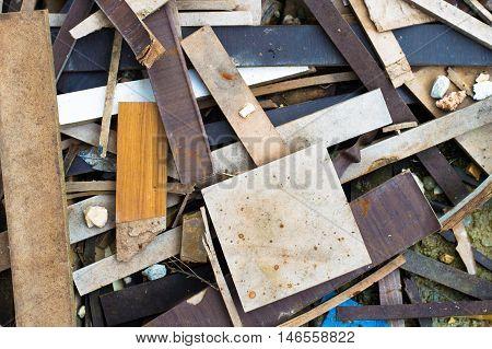 Pile Of Wooden And Metal Scrap