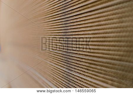 Side View of a Corrugated Cardboard Background