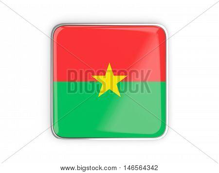 Flag Of Burkina Faso, Square Icon