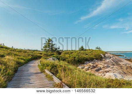 Boardwalk at Keji Seaside trail (South Shore Nova Scotia Canada)