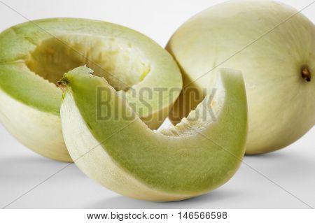 Close-up image of melon studio isolated on white background