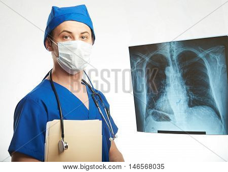 Doctor Radiologist In Mask