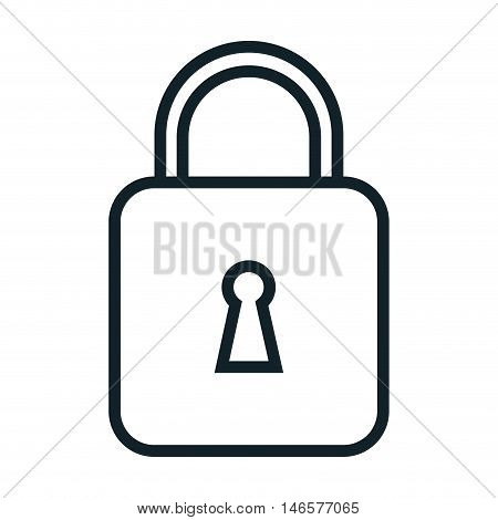 closed lock security object with keyhole. safety element. vector illustration