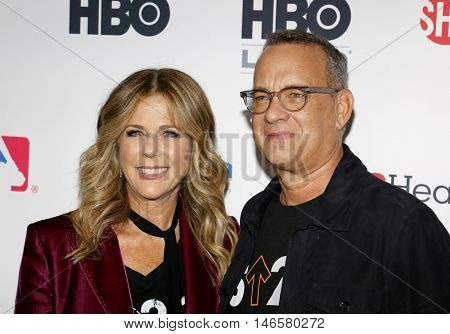 Tom Hanks and Rita Wilson at the 5th Biennial Stand Up To Cancer held at the Walt Disney Concert Hall in Los Angeles, USA on September 9, 2016.
