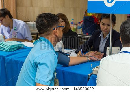Collection Blood In Lab For Checkup A Health