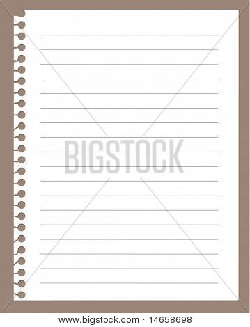 Spiral Notebook Paper
