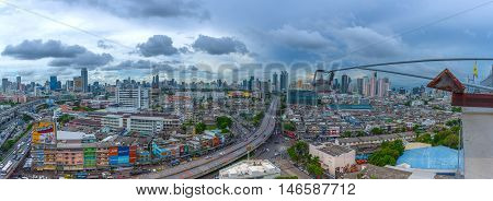 Cityscape And Transportation In Daytime, Process In Panorama Hdr Style