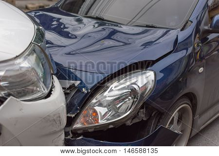 Car Crash From Car Accident On The Road