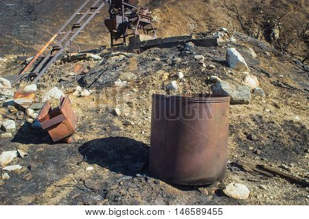 Rusting Metal Container