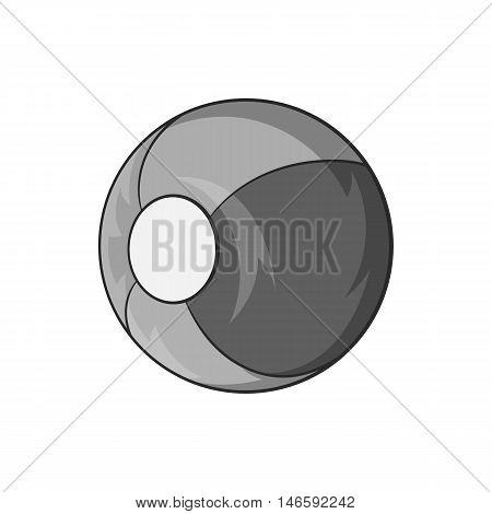 Childrens ball icon in black monochrome style isolated on white background. Games and toys symbol vector illustration