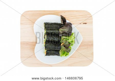 Fresh Vegetable Wrapped With Seaweed Sheet