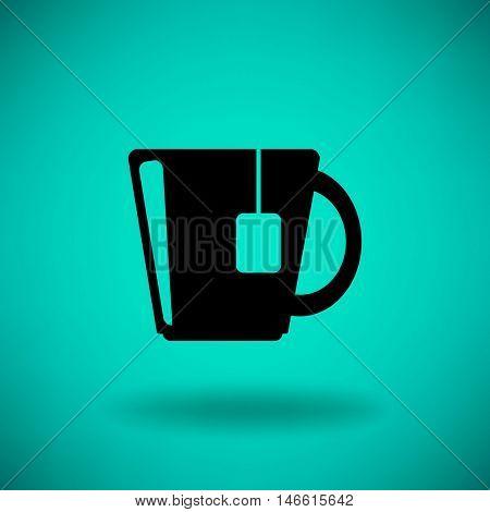 Flat icon. Hot tea.