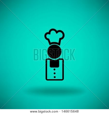 Flat icon. Cook.