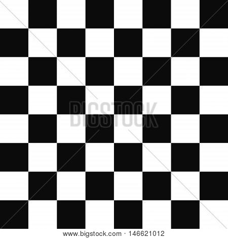 black and white squares checkered pattern - one tile