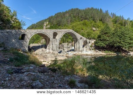 The Devil's Bridge over Arda river and Rhodopes mountain, Kardzhali Region, Bulgaria