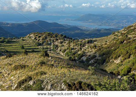Panoramic view of Mountain of Lefkada, Ionian Islands, Greece