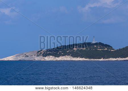 Amazing Seascape Lefkada cape near village of Vasiliki, Ionian Islands, Greece