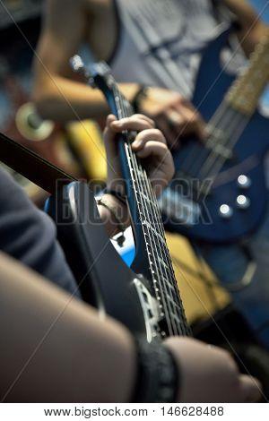 Guitar, rock, music, rock'n'roll, show, musician, guitar player