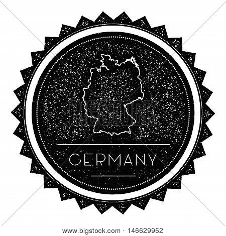 Germany Map Label With Retro Vintage Styled Design. Hipster Grungy Germany Map Insignia Vector Illus