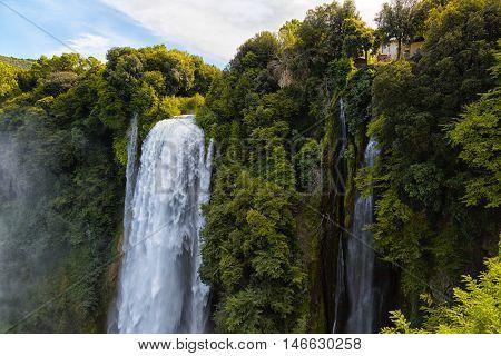 Cascata Delle Marmore waterfalls in Terni Umbria Italy