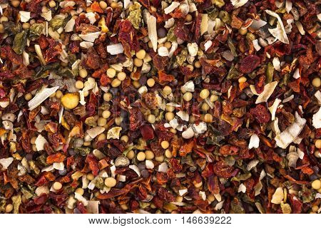 Group of colored spice. texture or background