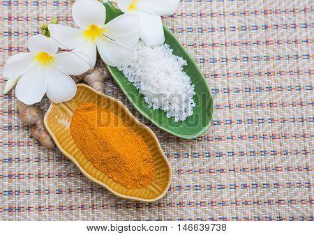 salt turmeric use in Thai spa products