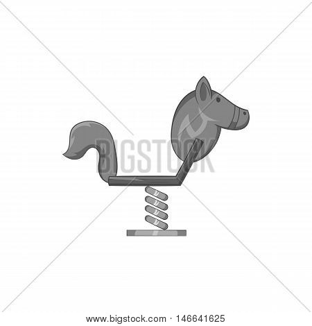 Spring see saw icon in black monochrome style on a white background vector illustration