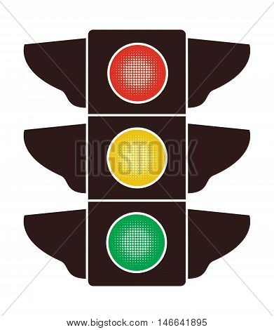 vector icon of traffic light isolated on white background
